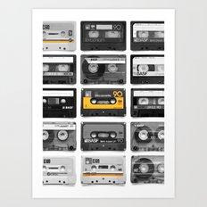 Retro Tapes Art Print