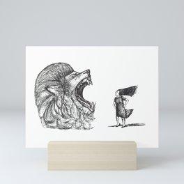 Be Louder Than Your Lions Mini Art Print
