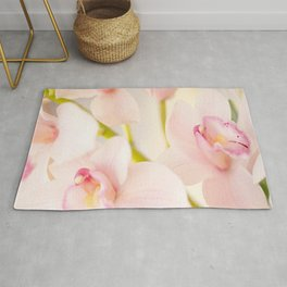 Orchid Flower Bouquet On A Light Background #decor #society6 #buyart Rug