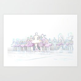 Ballerina and Students II Art Print