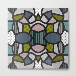 Pop Art Tiles Metal Print