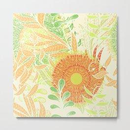 Hand Drawn Floral & Mandala 04 Metal Print