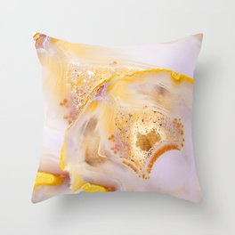 Modern Blush and gold Agate Throw Pillow