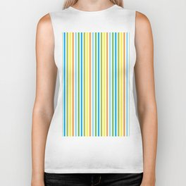 Colourful Pinstripes Biker Tank