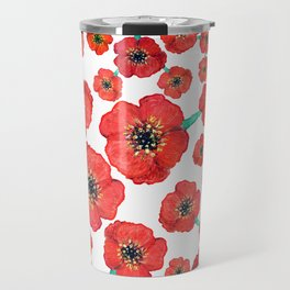 Red flowers Travel Mug