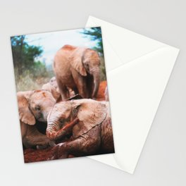 Baby elephants Stationery Cards