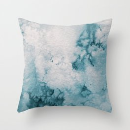 Watercolor wash - neutral Throw Pillow