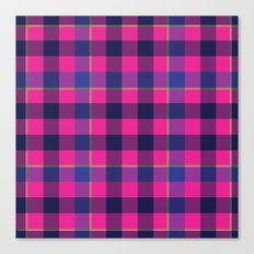 Pink and Navy Plaid Canvas Print