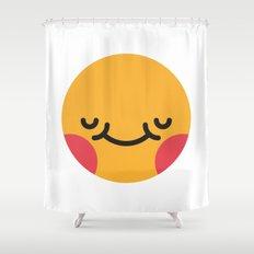 Emojis: Blush Shower Curtain