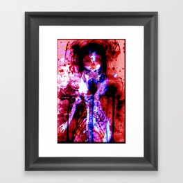 Possession Red Framed Art Print