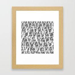 Abstract letter gray background Framed Art Print