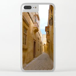 Mdina sidestreet Clear iPhone Case