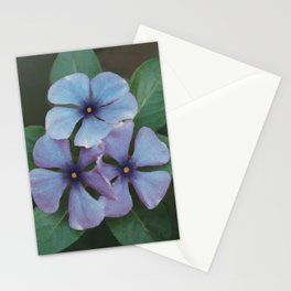 Blue Periwinkles - British Wildflowers Stationery Cards