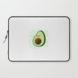 Cute Cartoon Avocado On Distressed Background Laptop Sleeve
