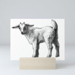 Goat baby G147 Mini Art Print