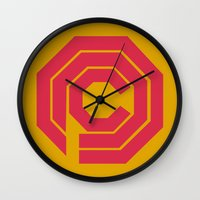 robocop Wall Clocks featuring Robocop by FilmsQuiz