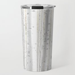 Pale Birch Trees Travel Mug