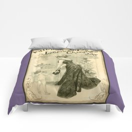 Kitty Pearl's Elegant Lavender Champagne Jelly Comforters