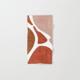Terracotta Art Print 3 - Terracotta Abstract - Modern, Minimal, Contemporary Abstract - Brown, Beige Hand & Bath Towel