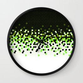 Flat Tech Camouflage Reverse Green Wall Clock