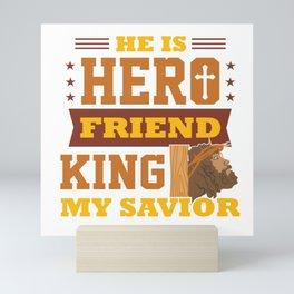 Funny Jesus Hero Friend Christian Quote Meme Gift Mini Art Print