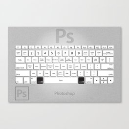Photoshop Keyboard Shortcuts Brushed Metal Cmd Canvas Print