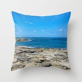 Seascape stones Throw Pillow