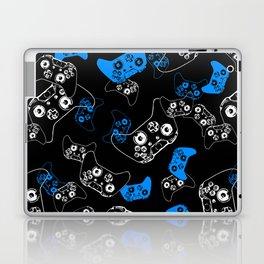 Video Game Blue on Black Laptop & iPad Skin