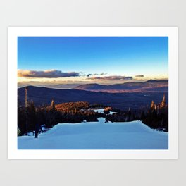 Ski Trail on Sugarloaf Mountain in Carrabassett Valley, Maine Art Print