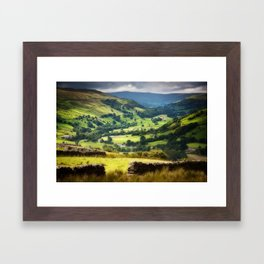 The Yorkshire Dales countryside Framed Art Print