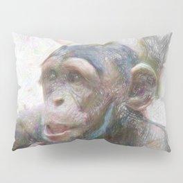 Artistic Animal Young Chimp Pillow Sham