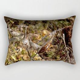Milkweed Pods Bugs Rectangular Pillow