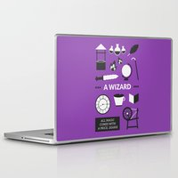 ouat Laptop & iPad Skins featuring OUAT - A Wizard by Redel Bautista