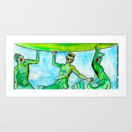 ''Tre Toni'' Art Print