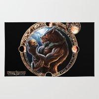 werewolf Area & Throw Rugs featuring WEREWOLF by TheMagicWarrior