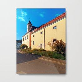 The village church of Eidenberg Metal Print
