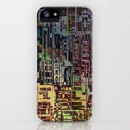 Where Are YOU -4 / Urban Density iPhone Case