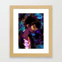 Neon Perfect Fire Framed Art Print