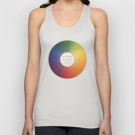 Chevreul Cercle Chromatique, 1861 Remake, renewed version Unisex Tank Top