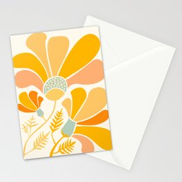 Summer Wildflowers in Golden Yellow Stationery Cards
