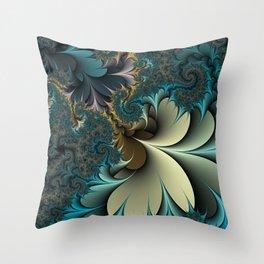Birds of a Feather Fractal Throw Pillow