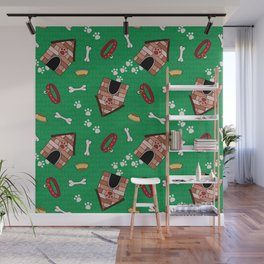 Dog Paradise in Green Wall Mural