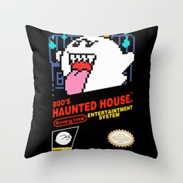 Super Mario Boo NES box art Throw Pillow