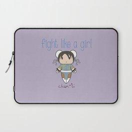 Fight Like a Girl - Street Fighter's Chun-Li Laptop Sleeve