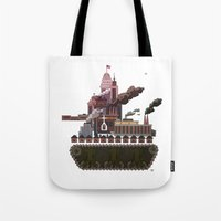 military Tote Bags featuring Military-Industrial Complex by James Tuer