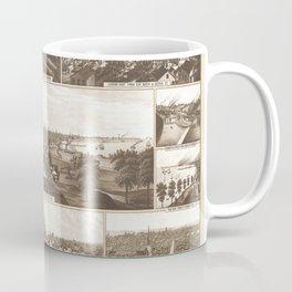Vintage Map of Milwaukee WI (1882) Coffee Mug