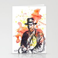 indiana jones Stationery Cards featuring Indiana Jones by idillard