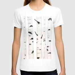 birch  watercolor T-shirt