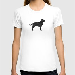 Black Labrador Retriever Silhouette T-shirt