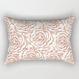 Elegant romantic rose gold roses pattern image Rectangular Pillow